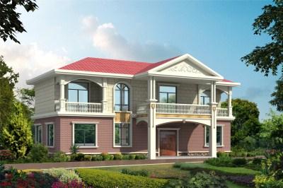 120平时尚大方二层别墅户型图,简单大方,建成之后让邻居眼红!