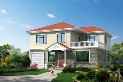 乡村三间二层别墅设计图,实用,功能齐全,布局合理。