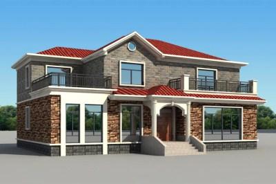 农村30万元二层小楼设计图,简单大气