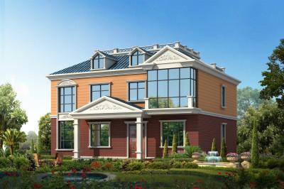 乡村带闷顶二层自建房屋别墅设计图,漂亮美观,时尚大气
