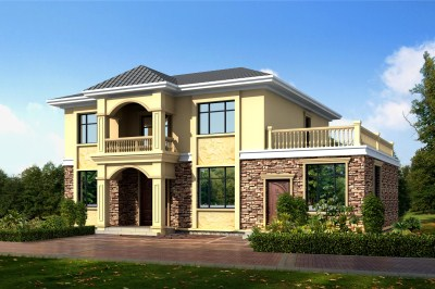 180平米四间两层别墅设计图,户型实用,外观时尚。