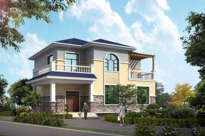 农村25万元二层小楼设计图,一家老小住得舒适方便。