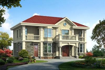 120平米小别墅设计图两层方案,外观新颖独特