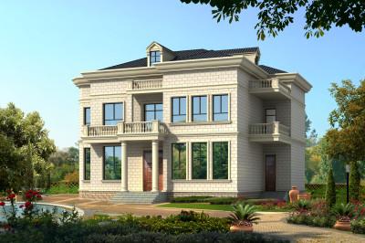 带地下室农村二层住房设计图纸,实用和舒适,房子更美观。