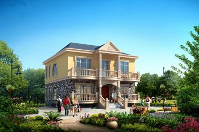 100平米乡村二层自建别墅房屋设计图,好看、实用