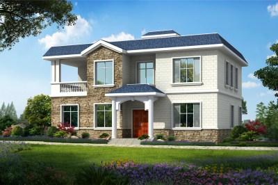 二层平顶楼房图片大全,简单的别墅设计图推荐