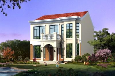 农村二层楼简单户型图,坡屋顶设计