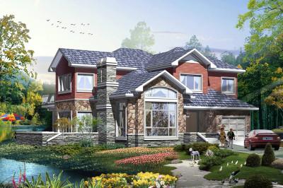 美式乡村别墅设计图二层户型,富有时代的气息