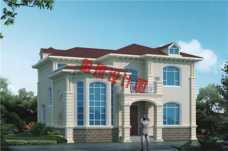 二层高档小别墅设计效果图