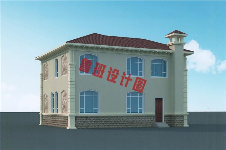 二层高档小别墅设计背面图