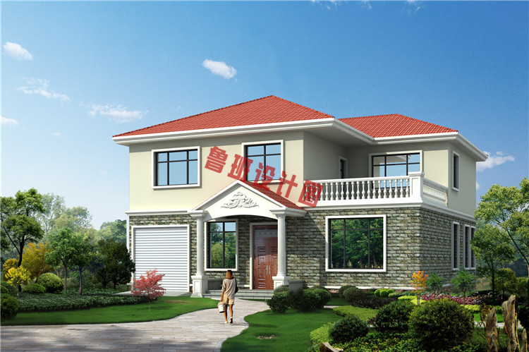 25万乡村二层小别墅设计效果图