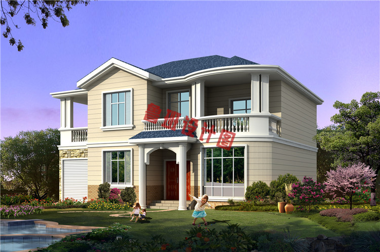 经济时尚的乡村二层自建小别墅效果图