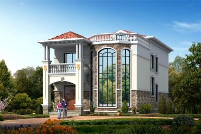 农村二层大进深小别墅设计图,外观时尚大方。