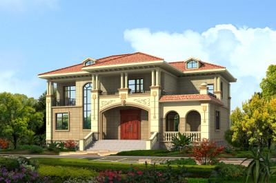 农村30万二层楼楼房别墅设计图,改变平凡经典的样式