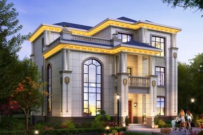 农村40万三层别墅款式设计方案图,外观大气、户型经典