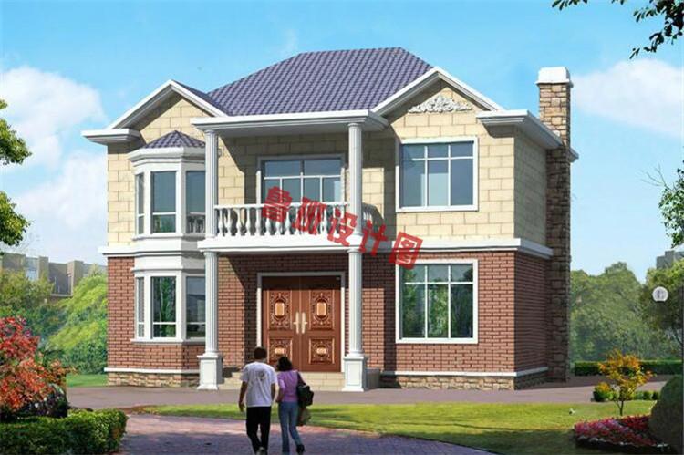 乡村二层小别墅设计效果图