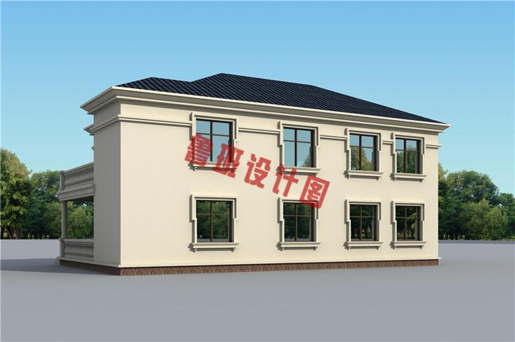 欧式二层乡村别墅设计外观图