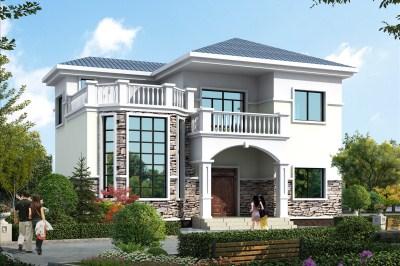 农村二层楼简单大气别墅设计图,时尚、漂亮