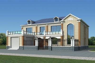 带院子中式别墅效果图及设计图,农村中式庭院别墅图片
