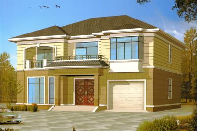 16X12米二层别墅设计图效果图,简洁大气的外观,多面体结构