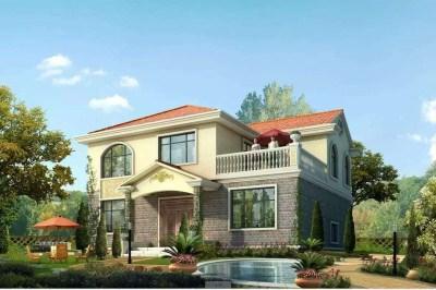 带屋顶花园二层小楼设计图,经典户型,设计师主推。