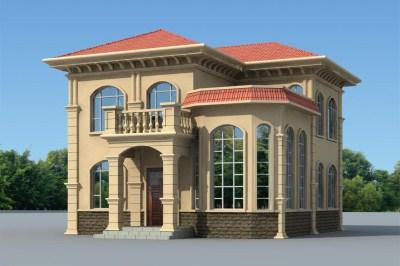 120平经济实用二层乡村小别墅设计图,时尚漂亮,造价25万以内。