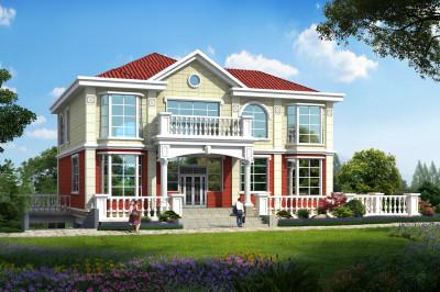 精致实用二层别墅设计图,带地下大平台,欧式田园风格的别墅