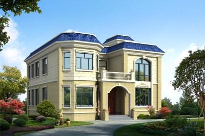 150平复式二层别墅设计图,经济实用型,自建房中的精品户型。