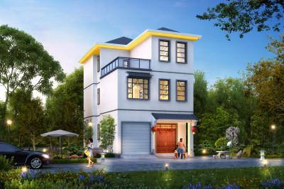 小开间大进深三层别墅设计图,沉稳中又不失时尚,大方得体。