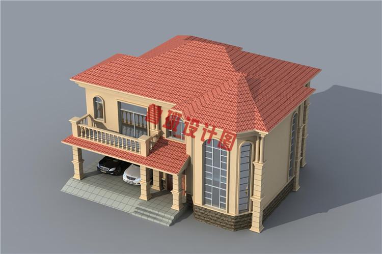 带车库二层别墅设计外观图