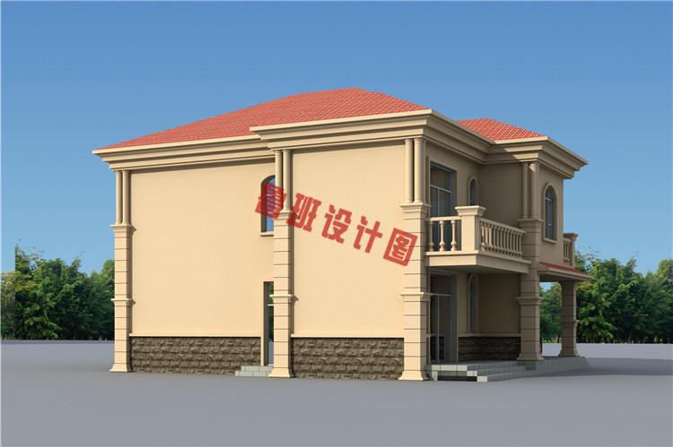 带车库二层别墅设计图,复式结构,160平左右