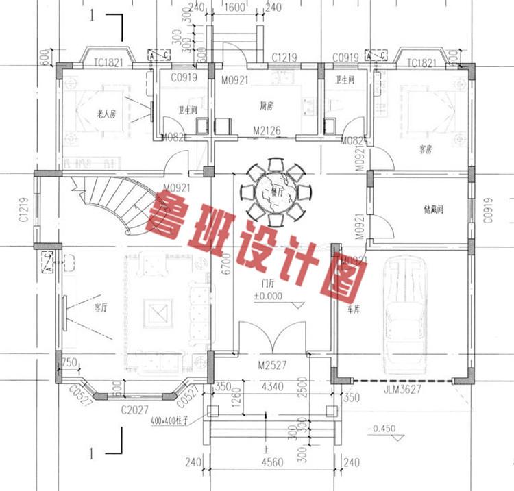 二层别墅设计图一层户型图