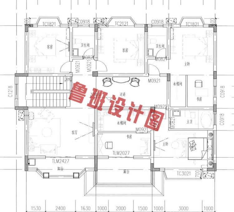 二层别墅设计图二层户型图