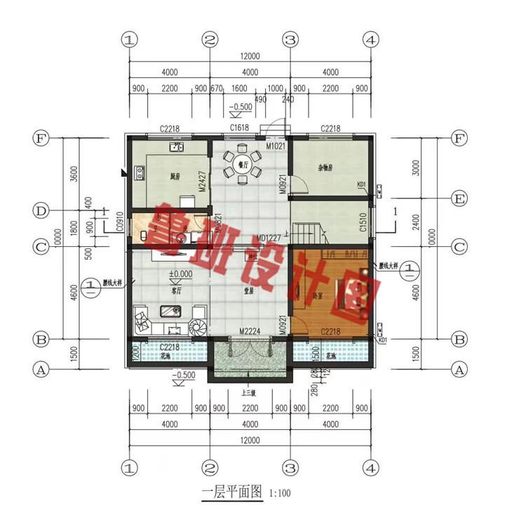 二层小楼设计一层户型图