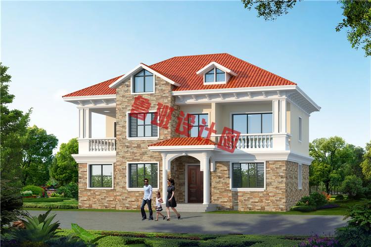 漂亮实用二层别墅房屋设计效果图