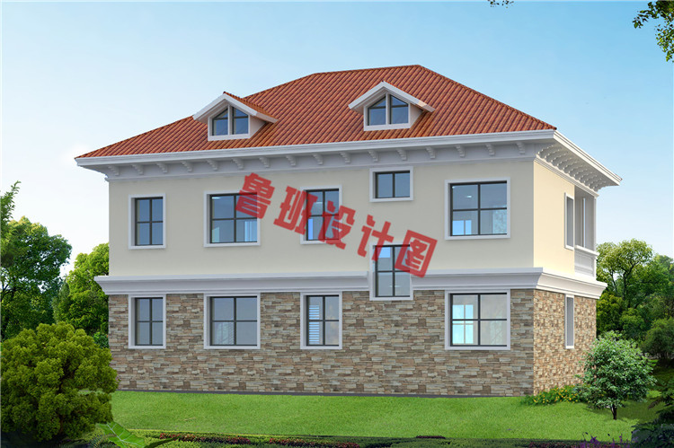 漂亮实用二层别墅房屋设计背面图