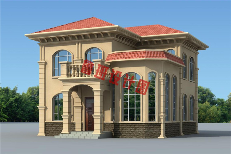二层乡村小别墅设计效果图