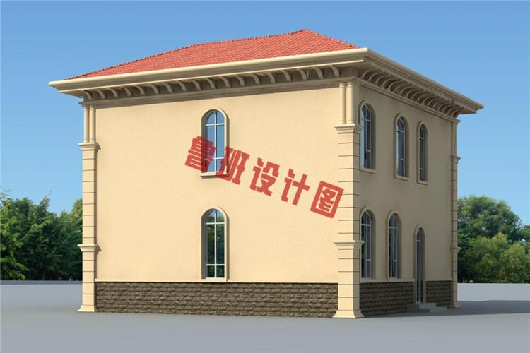 二层乡村小别墅设计背面图