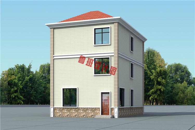 新型农村三层自建房屋设计外观图