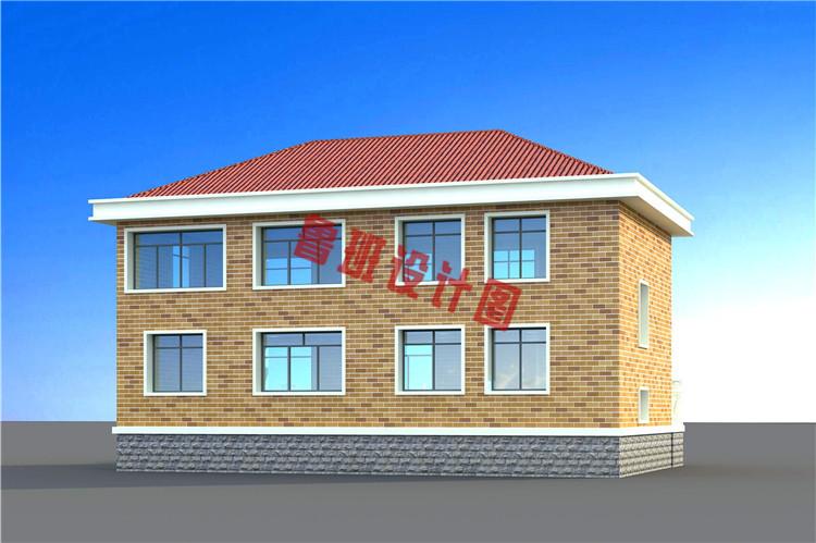 农村二层别墅设计背面图