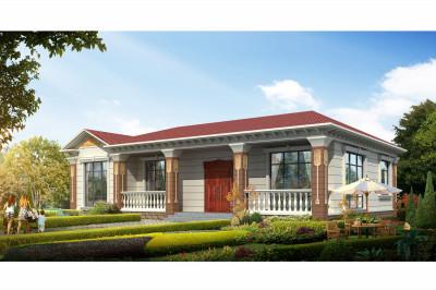 简单大气的一层别墅设计图,别有一番风味,丝毫不比别墅差!