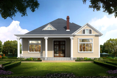 15万漂亮实用一层自建房屋设计图,大方实用,造价经济实惠。