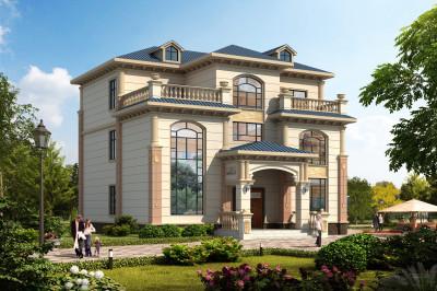 2020新款50万左右农村三层别墅图,外观设计感十足