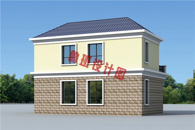 二层楼房图片造价10万设计方案,建一栋美观大气的二层小别墅