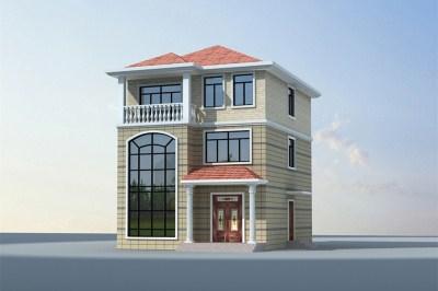 25万左右农村三层房屋设计图,占地100平左右