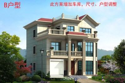 130平农村复式别墅设计图,外观漂亮大气。