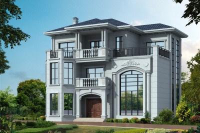 180平三层欧式别墅设计图,建一栋在村里赚足面子。