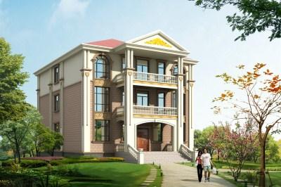 200平欧式三层农村小别墅设计图,清新大气。