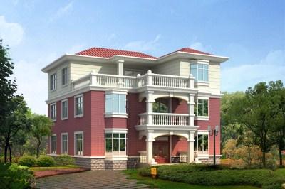 简洁大方三层农村别墅设计图,12×14米,布局挑不出毛病!