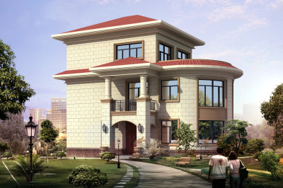 农村12万二层半楼房设计图,小巧精致的户型